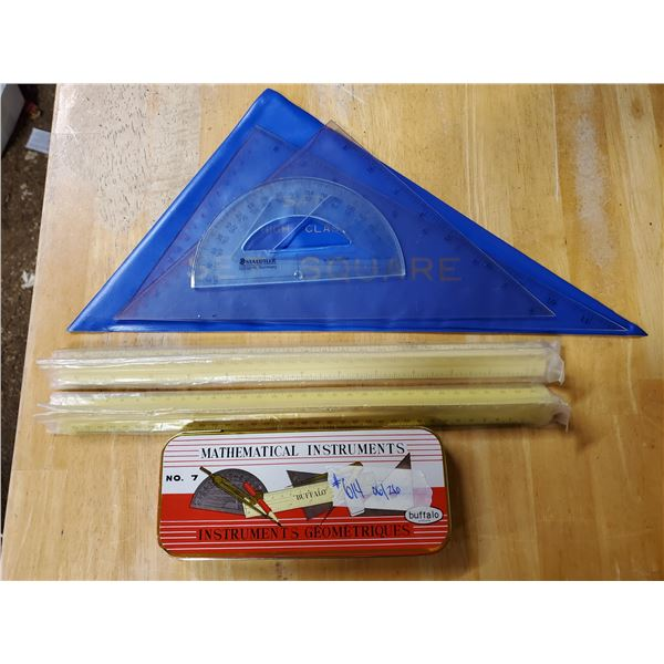 Buffalo mathematical instruments #7, 2 engineers scale or ruler (different scales) SAT high class s