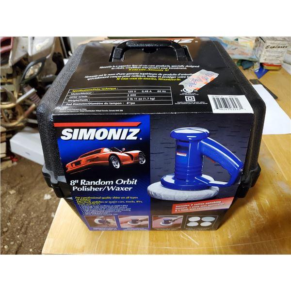 """Simoniz 8"""" random orbit polisher/waxer, new"""