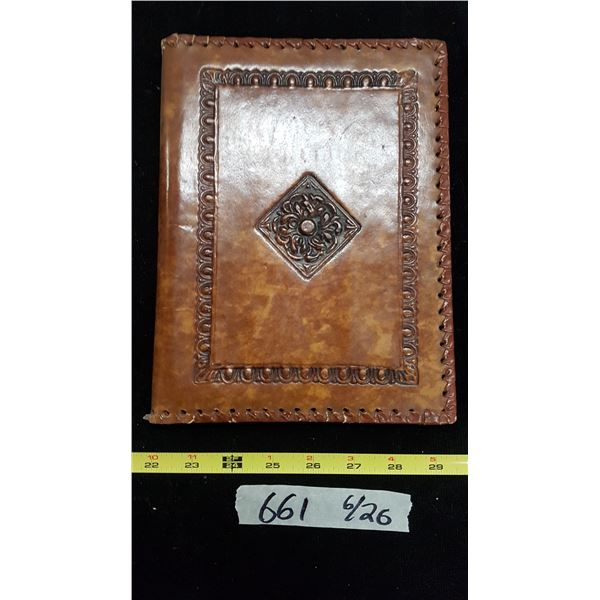 Etched Leather Book Cover