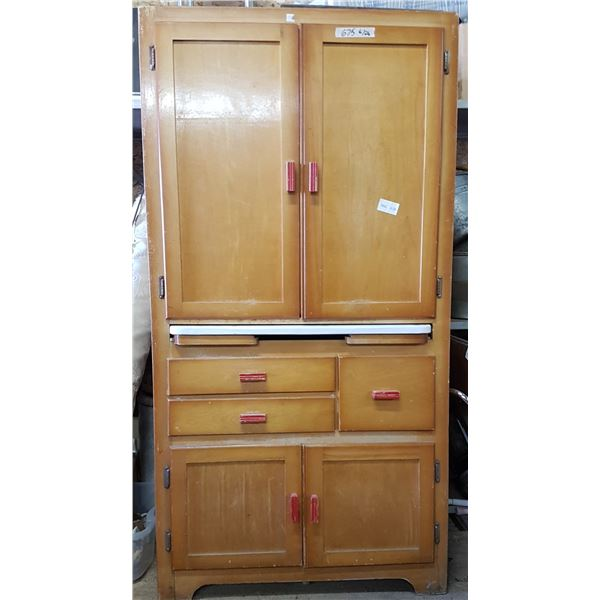 Vintage Cabinet With Pullout Leaf