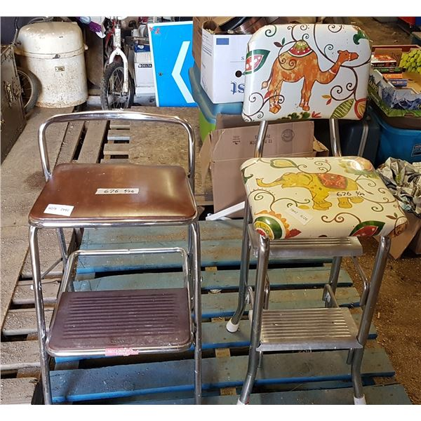 "2  X Step Stool/ Chairs 24"" High"