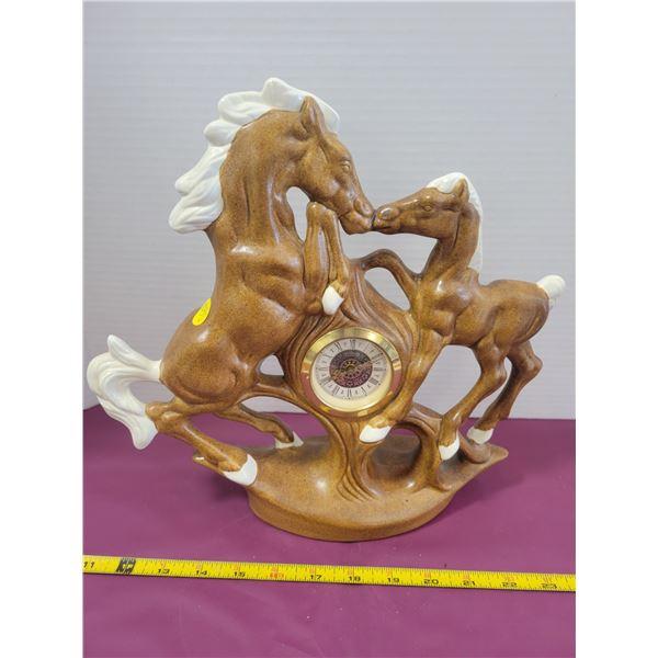 Vintage homemade horse clock