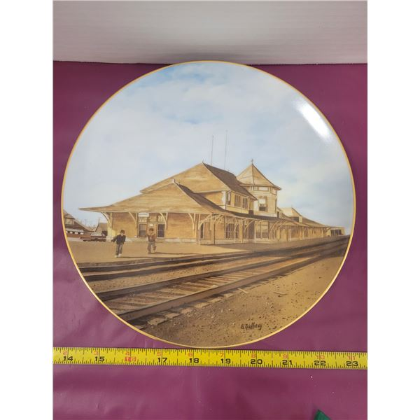 CPR Train Station in Saskatoon collectors plate