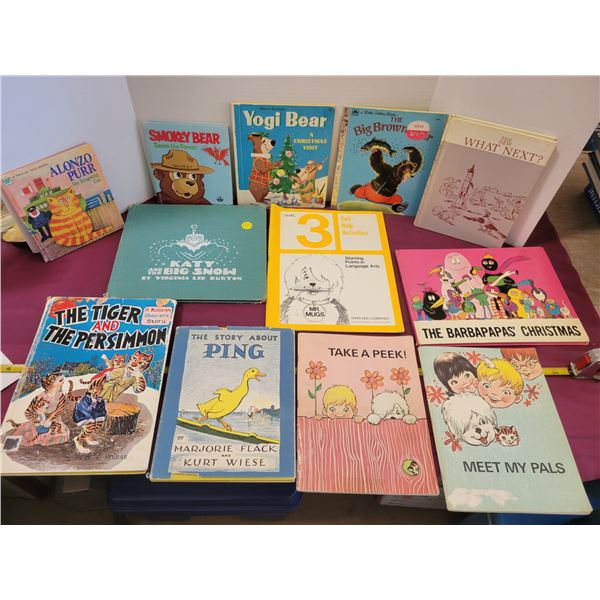 12 vintage children's books & readers (all quite collectible)