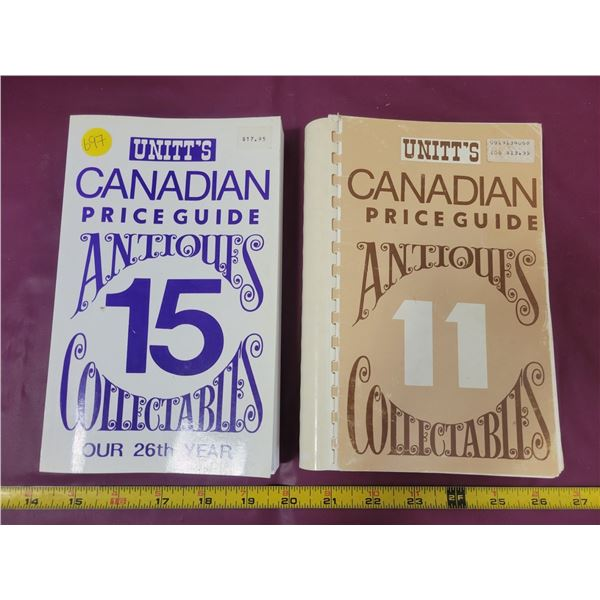 2 Unitt's Canadian Price Guides to Antiques