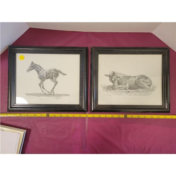 2 horse pictures Wendy Risdale High River AB