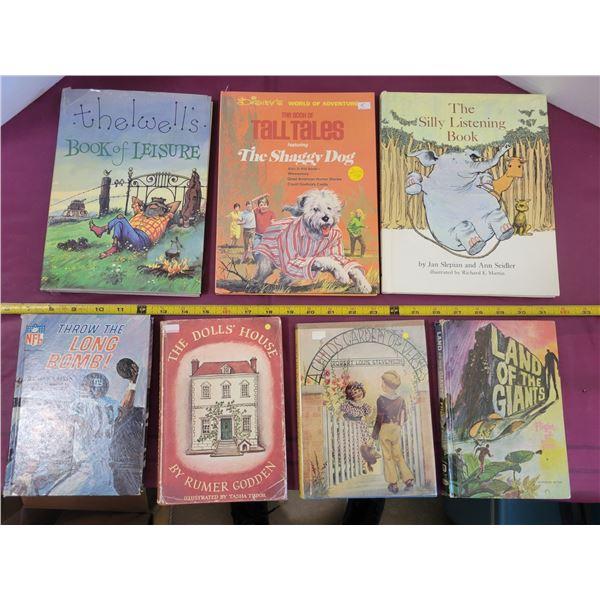 7 vintage children's books
