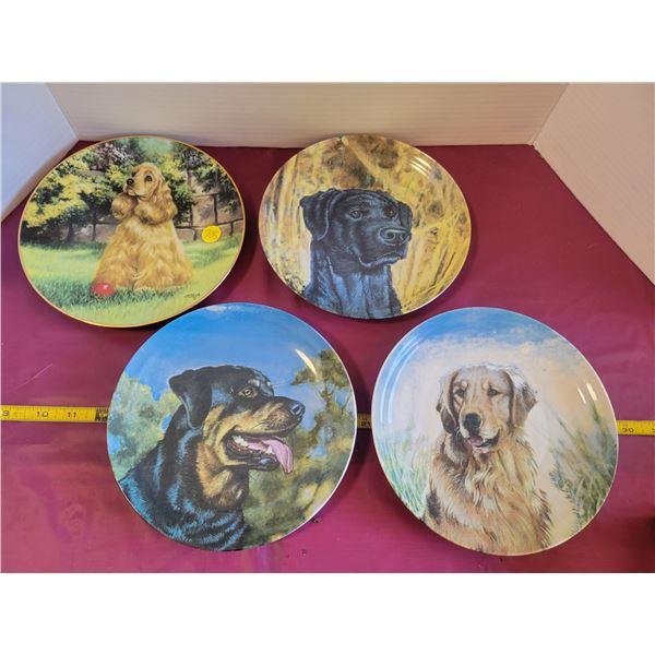 4 dog plates