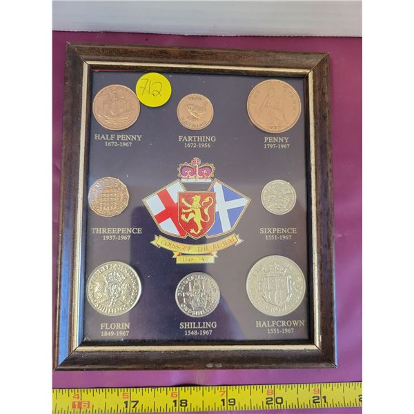 British Coins of the Realm 1548-1967 set in glass case