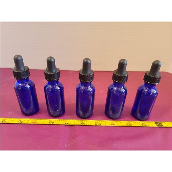 Vintage Cobalt Blue Medicine Bottles