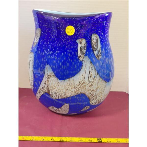 Huge Blue Designer Vase