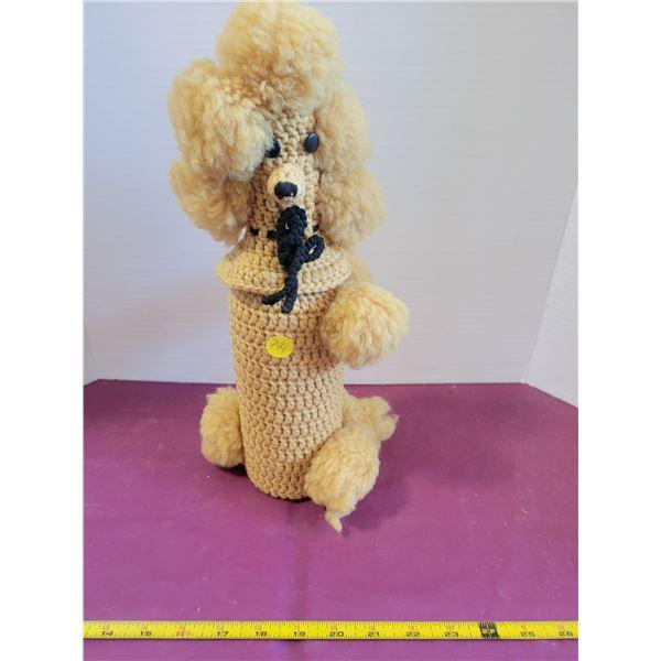 Vintage poodle bottle cover