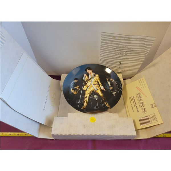 Elvis plate with box COA