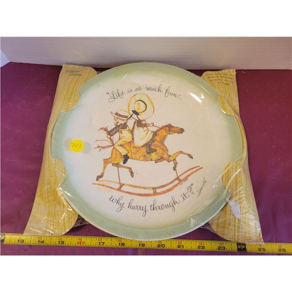 Holly Hobbie plate in original packaging 1980s