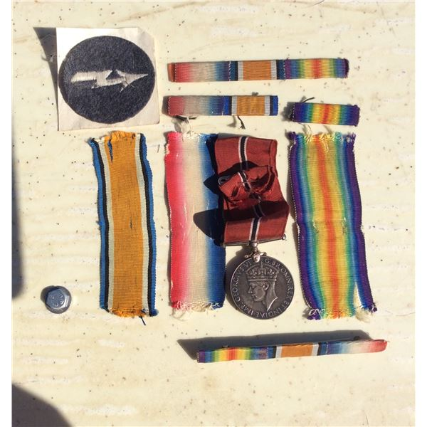 Misc. WWII ribbons, bars & medal