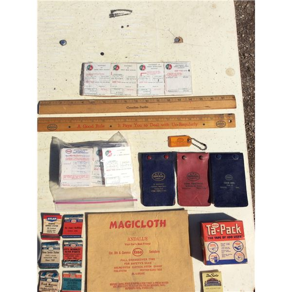 Imperial Oil pocket books, invoices, rulers, matchbooks