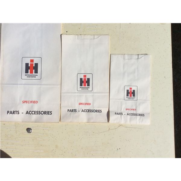 International Harvestor parts bags 3 sizes