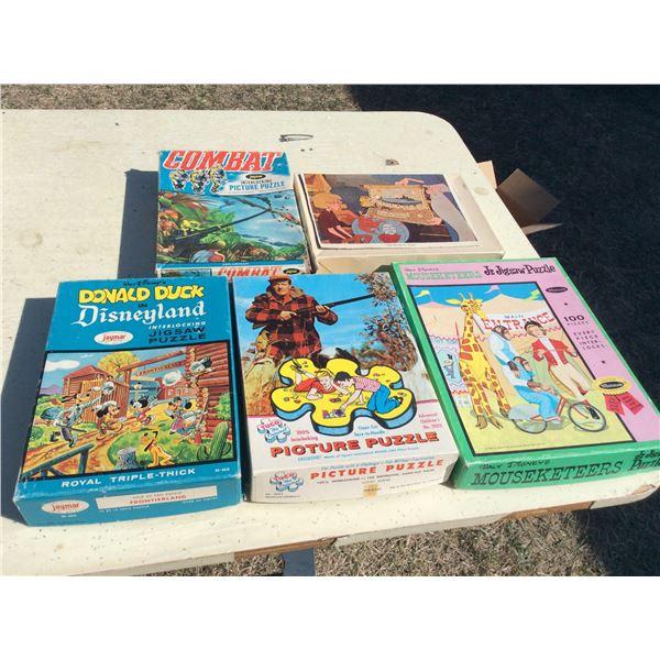 5 children's puzzles. Complete