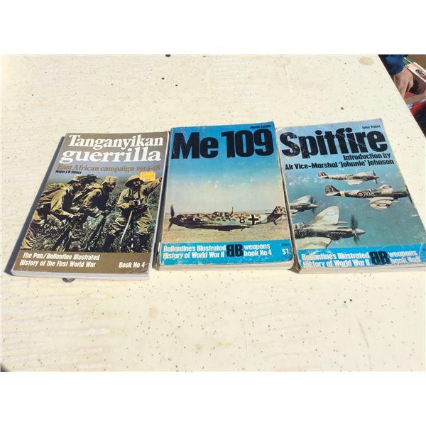 Three Ballantine military books