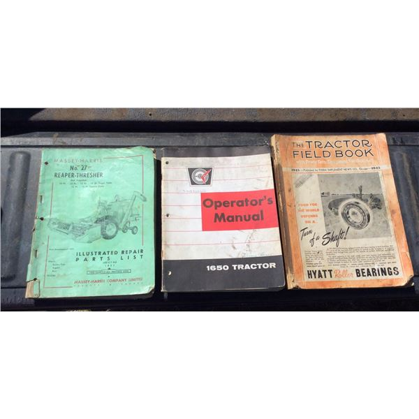 Three farm equipment manuals