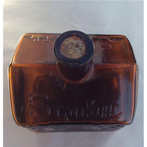 Vintage Smokene log cabin bottle
