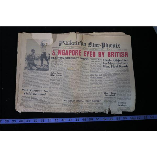 Saskatoon Star Phoenix May 11, 1945
