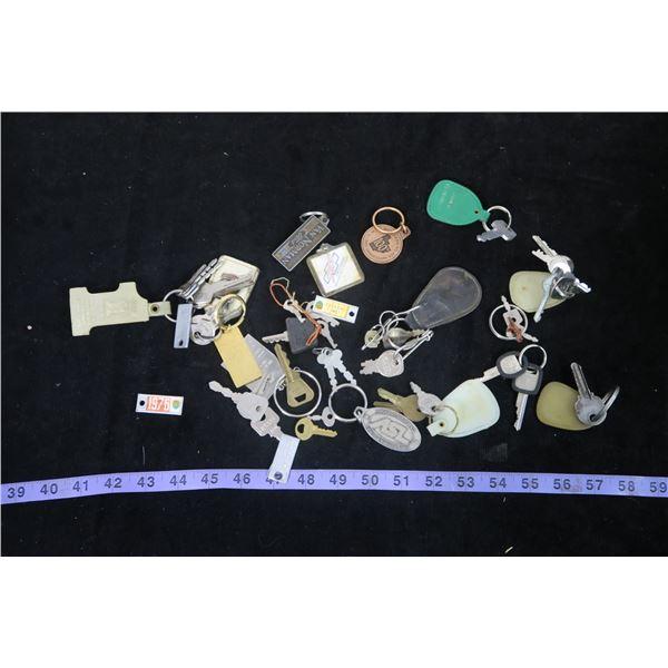 Bag of Keys, Key Tags, License Tags