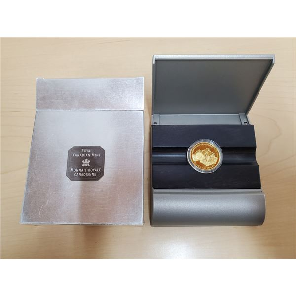 1999 100 dollar rcm gold coin 58.33 % gold, 41.67% fine silver