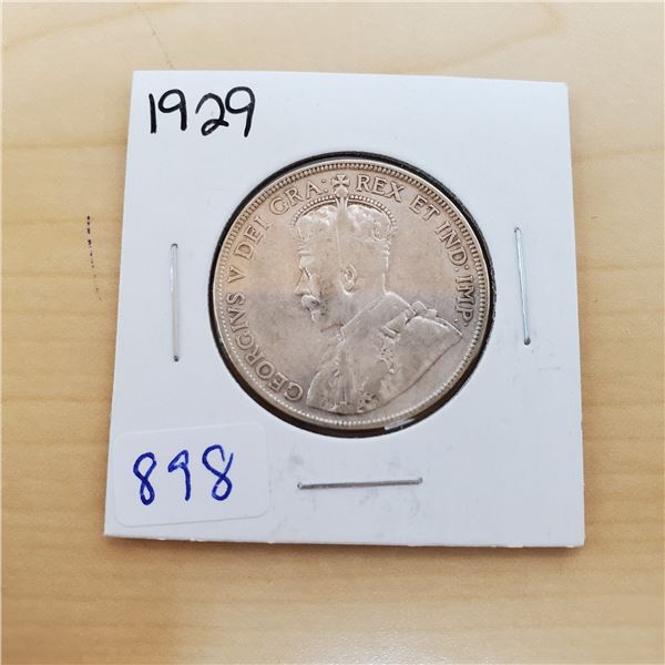 1929 canada 50 cents