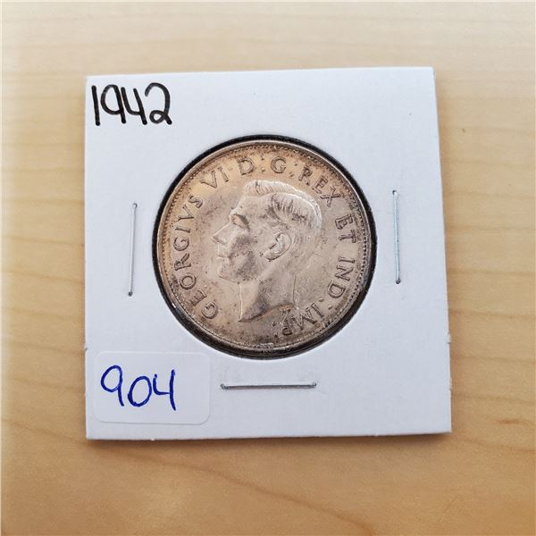 1942 canada 50 cents
