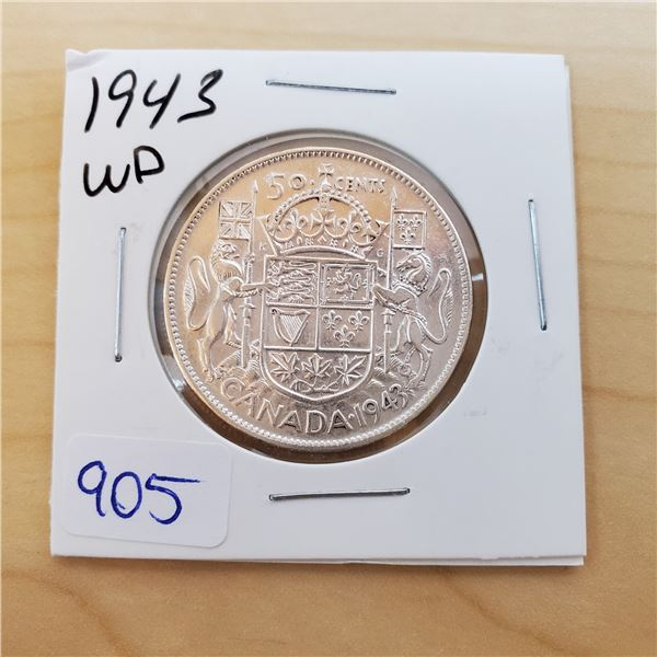 1943 wd canada 50 cent