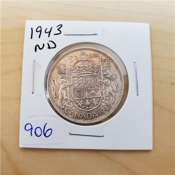 1943 nd canada 50 cent