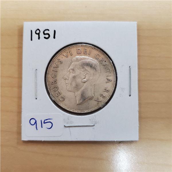 1951 canada 50 cent