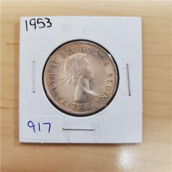 1953 canada 50 cent