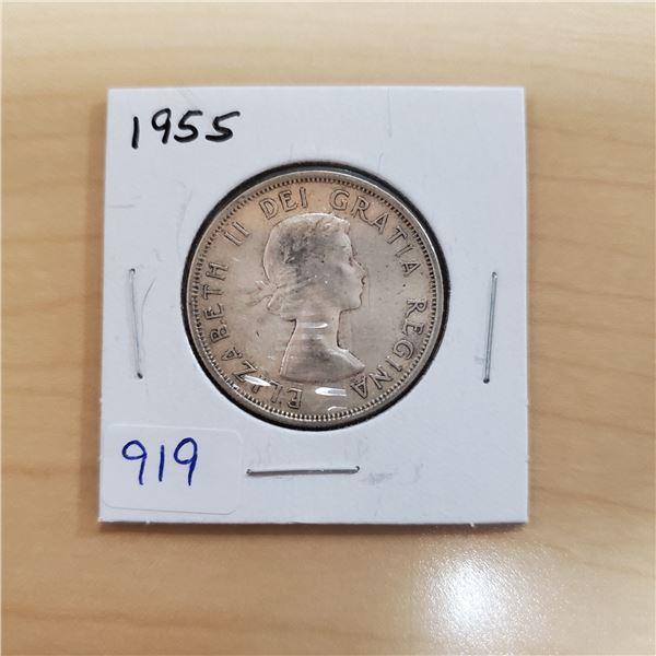 1955 canada 50 cent