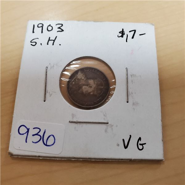 1903 s.h. canada 5 cents vg