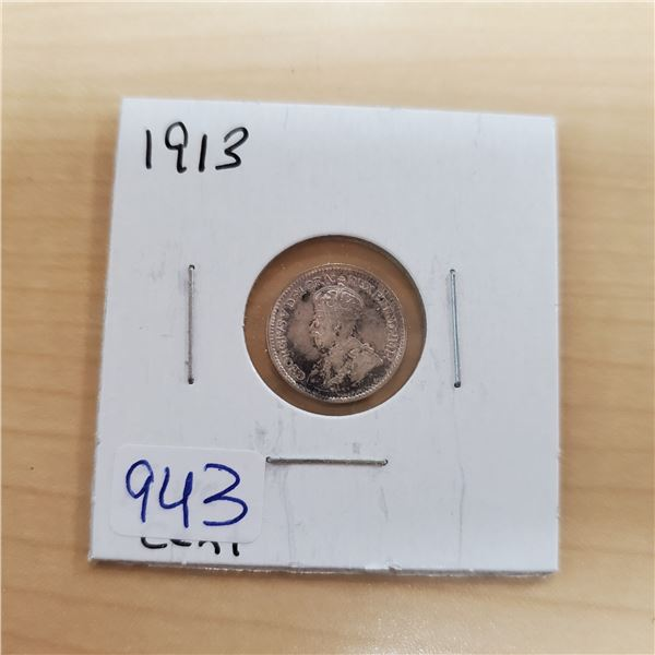 1913 canada 5 cents