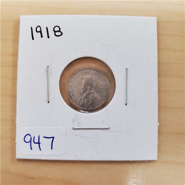 1918 canada 5 cents