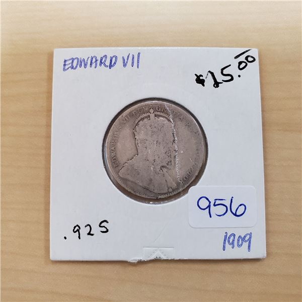 1909 canada 25 cents .925
