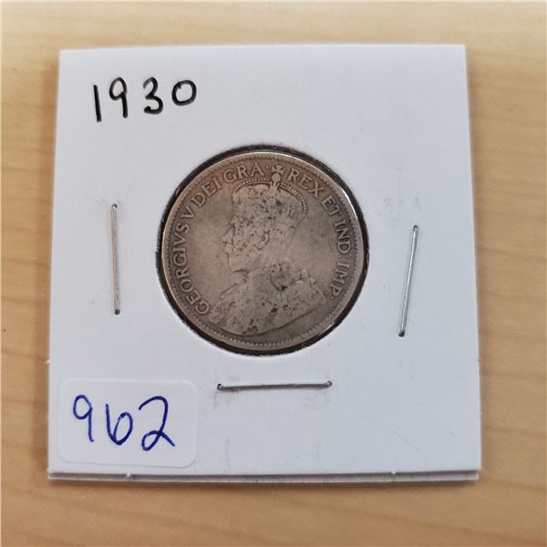 1930 canada 25 cents