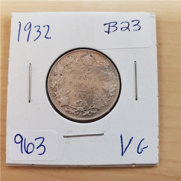 1932 canada 25 cents