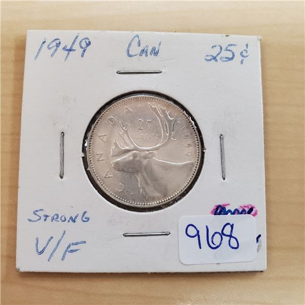 1949 canada 25 cents