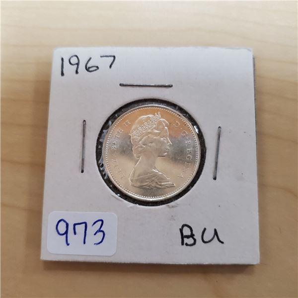 1967 canada 25 cent bu