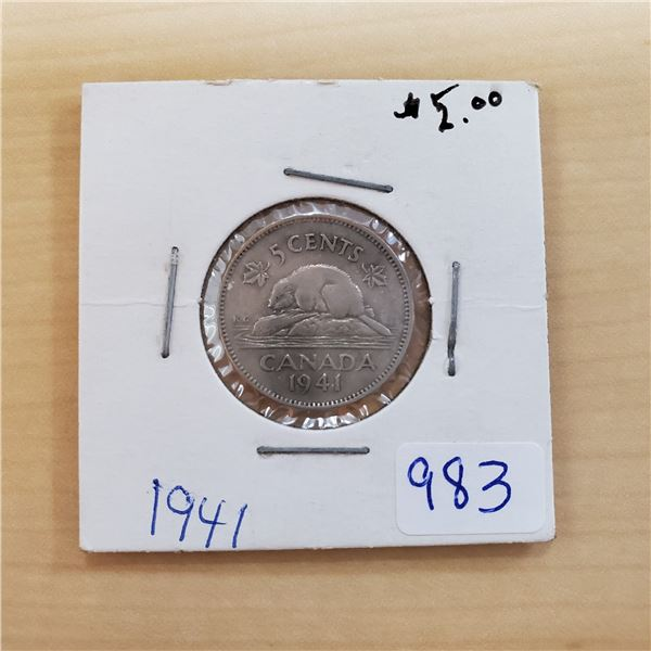 1941 canada 5 cents