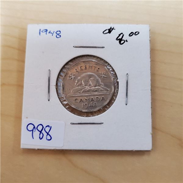 1948 canada 5 cents
