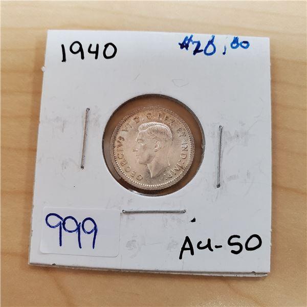 1940 canada 10 cents au-50