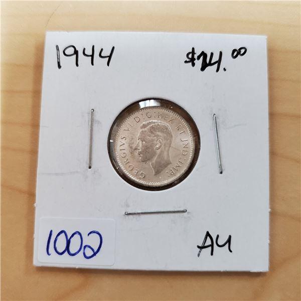 1944 canada 10 cents au