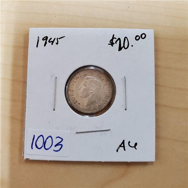 1945 canada 10 cents au