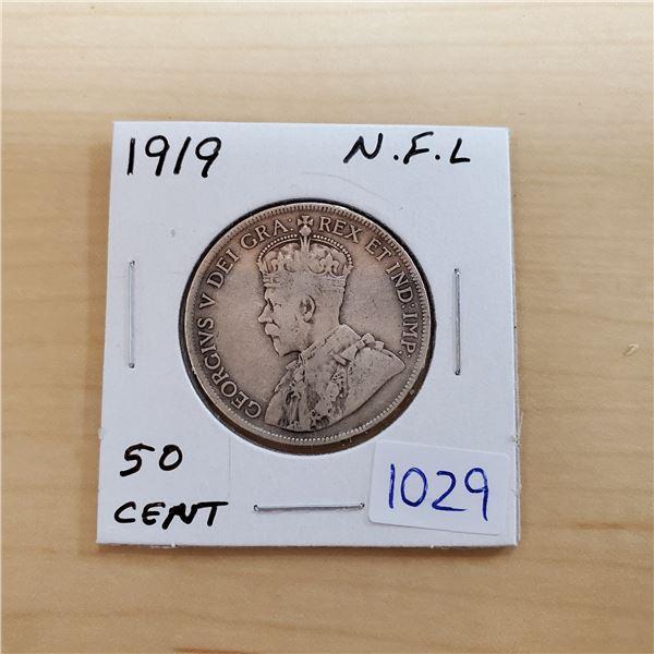 1919 newfoundland 50 cents
