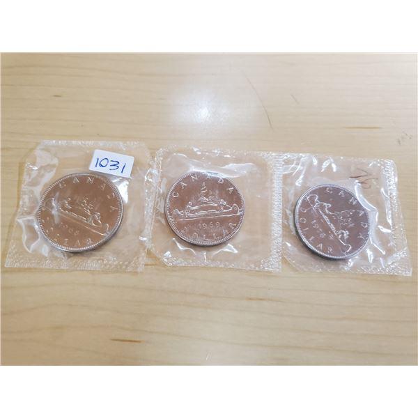 1968, 1969, 1976 canada dollars